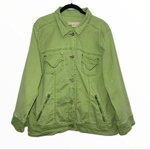 JeanStar | Soft Green Denim Jacket
